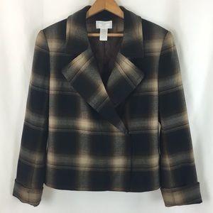 Worthington Petite Stretch Plaid Blazer Jacket